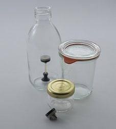 Enregistreur de température pour la stérilisation des bouteilles, bocaux et verrines