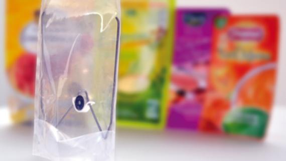 Enregistreur de température miniature au plus près du point froid dans l'emballage
