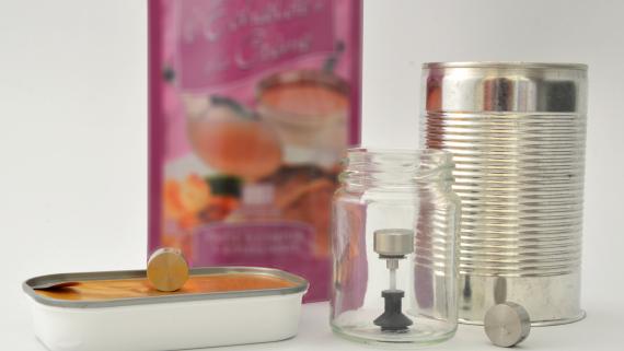 Enregistreur de température ultra-plat pour la stérilisation dans des pots